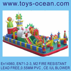 hot giant outdoor inflatable obstacle for baby/inflatable bouncer witn slide/inflatable playground