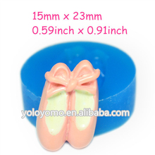 FYL238 Ballet Shoes Silicone Mold Fondant Craft Chocolate Candles Biscuit Jewelry Sugar Plaster Biscuit Wax Molds