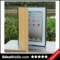 Luxury Leather Wood Flip Stand Cover Case for ipad 2/3/4