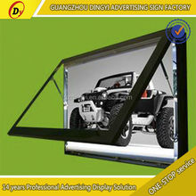 Creative moulding waterproof aluminum frame scrolling picture light box