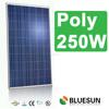 Bluesun 25 years warranty TUV ISO CE IEC INMETRO certificated poly solar panels 250 watt