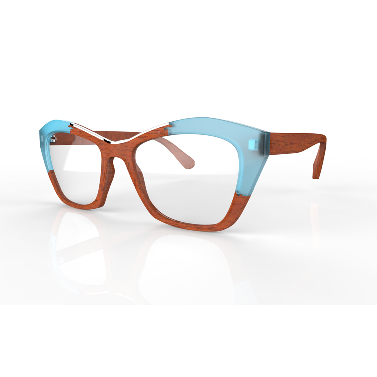 Glasses Top Frame Only : Wood Eyeglasses Frame Ready Made Reading Glasses Top ...