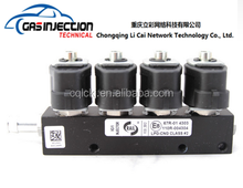 China fabricante lpg / gnc inyector del carril para secuencial sistema para 3 / 4 / 6 / 8 cyl