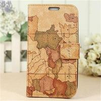 OEM 2013 Map Pattern with Buckle Smart Cover Dormancy Leather Cases Holsters for Samsung Galaxy S3 i9300 for cell phones