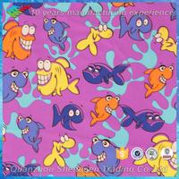 cartoon shark printed nylon spandex fabric for childrens swimwear
