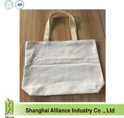 New style blank cotton shopping bag with different weight / tote shopping bag