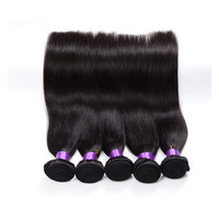 Double Weft Natural Silky Straight Cheap Brazilian Virgin Hair Bulk