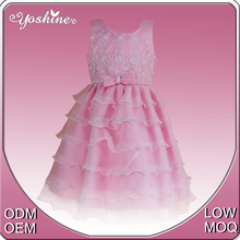 Hot Sale Baby Girl Party Dress Sweet Sleeveless Latest Children Frocks Designs for Children Party