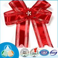 wide decorative colorful white satin edge dot fabric printed bow sheer ribbon