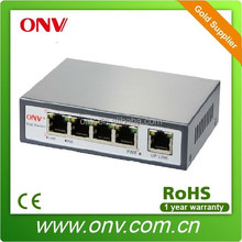 Switch poe 5 port for IP Camera with 4 POE Port and One Ethernet Uplink Port(15.4Watts)