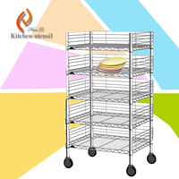 Quality guarantee any size request good loading kitchen food trolley cart with wheels