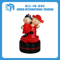 chinese style wedding couples doll resin crafts, DIY creative arts and crafts