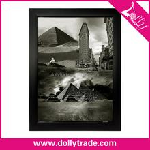 desert landscape painting canvas black and white