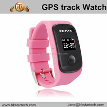 Wholesale Children wrist watch GPS tracking Device kids monitor SOS alarm support SIM card