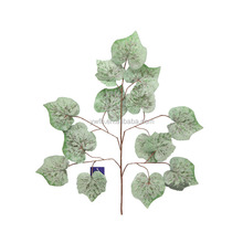 hand feel real touch velvet fabric plastic crafts grape leaf for decoration