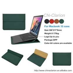 2015Wholesale China Factory OEM Laptop Case For Macbook 12 inch Cover For Macbook Sleeve Case, Dark Green