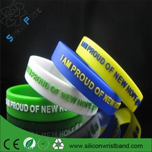 2015 cheap custom silicone rubber bangles wristband, Promotional embossed braslets silicone bracelets