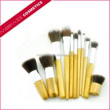 Merrynice hot sale natural handle wholesale bamboo makeup brush set