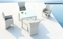 Colorfull Outside Furniture Rattan Dining Set