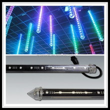 3D DMX LED tube,madrix control 3D effect led meteor rain light