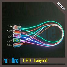 PVC led lighting lanyard,led badge holder ,led flash light for kinds of color to choice