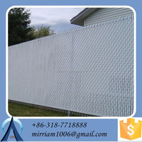 hot sale chain link fence with privacy slats