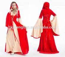instyles medieval de las señoras vestido de fantasía traje de disfraz de halloween