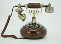 Pretty Decorative Wooden Antique Telephone For Gift