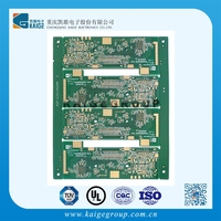 PCB manufacturer smart computer keyboard printed circuit board with Au surface treatment gold supplier of computer manufacturers