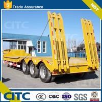 tri-axle low bed semi trailer model YCY9400,CITC brand