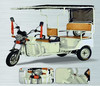 2015 New model with water proff motor mini electric tricycle 3 wheel battery rickshaw for sale