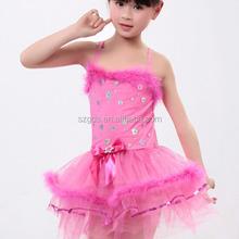 Wholesale professional children girl latin tutu latin dance Kids Ballet Dancing Dress fashion 3colors Available