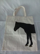 eco genuine natural cotton bag recycled durable with horse logo for shopping promotion personialized