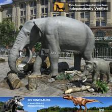N-W-Y-968-animatronic elephant silicone mannequin remote control animal