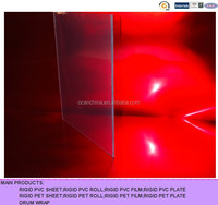 clear pvc film 1mm,thin hard plastic material,PVC rigid transparent ,PVC film for blister