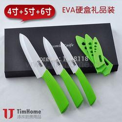 "Fruit Kitchen Ceramic Knife Sets 4"" 5""6"" Inch 3 Colors Select Ceramic Knife Set Holder Tools Free Shipping"
