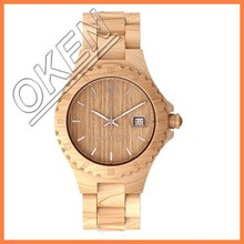 chronograph geneva men stylish wood watch best gift