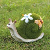Resin flocked animal garden snail decoration