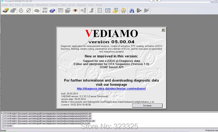 Последним DAS Xentry ИСВ EPC 2014,05 версия программного обеспечения.