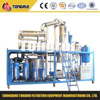 Waste Oil Re-refinning System/Black Oil Distillation to Yellow Oil Regeneration Machine