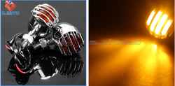 Motorcycle Turn Light LED Turn Light Grille Turn Signal Lamp For Shadow Aero Phantom VLX 750 1100 VF Magna Stateline 500 700