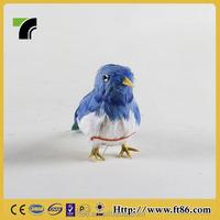 Handmade Art Craft Artificial Mini Feather Blue Bird For Sale