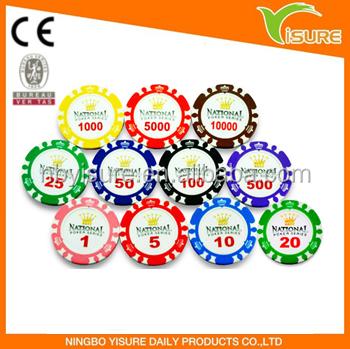 Copeaux de Pocker 13.5 g Clay personnaliser autocollant en plastique poker puce casino chip