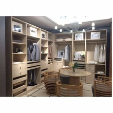 Bedroom Furniture Wood Walk-in / Open Wardrobe Closet Design