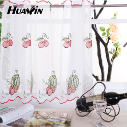 embroidery kitchen curtain,sheer kitchen curtains,embroidery designs curtains