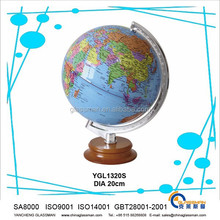 hot sales ! good quality smooth surface earth globe with wooden as teaching tool or decoration & gifts YGL1320R