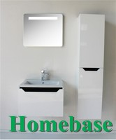 wholesale white MDF lacquer bathroom side cabinet bathroom vanity,bathroom furniture set,Bathroom cabinet with mirror