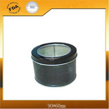 Round Watch Tin Box with PVC Window Lid