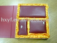 Classic elegant high quality genuine business leather wallet key holder gift set