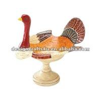 Ceramic Turkey Thanksgiving Dinner Table Centerpiece